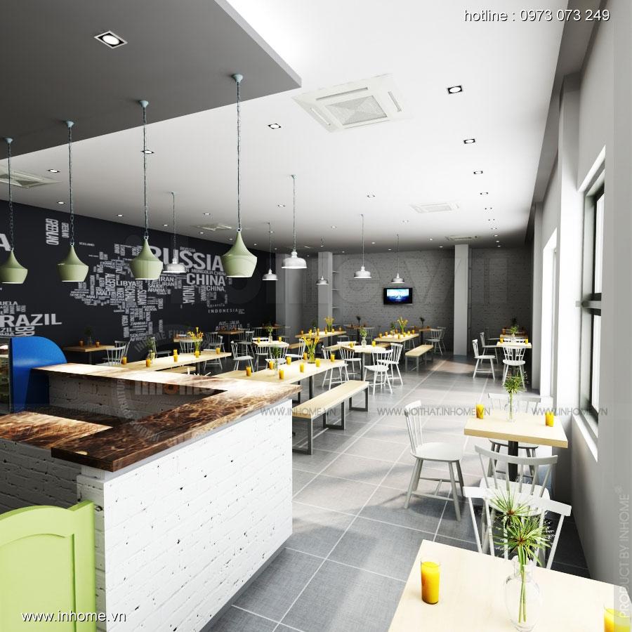 Thiết kế nội thất quán căng tin - The Green Box, Đại học Quốc Gia 03