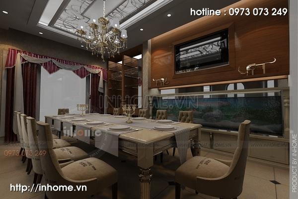 Thiết kế nội thất chung cư N04 theo phong cách tân cổ điển 02