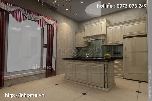 Thiết kế nội thất chung cư N04 theo phong cách tân cổ điển 03