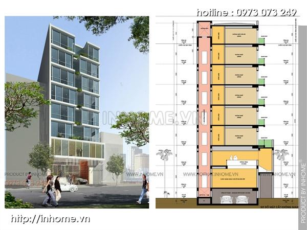 Thiết kế công trình khách sạn 4 sao cao cấp, sang trọng
