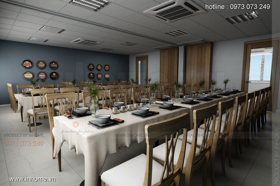 Thiết kế nhà hàng ăn uống đẹp và sang trọng 02