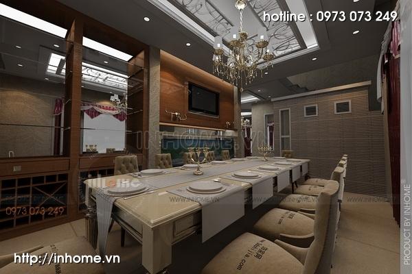 Thiết kế nội thất biệt thự ciputra phong cách tân cổ điển 01