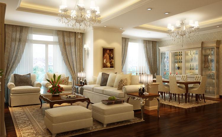 Thiết kế nội thất biệt thự Vincom phong cách Châu Âu sang trọng