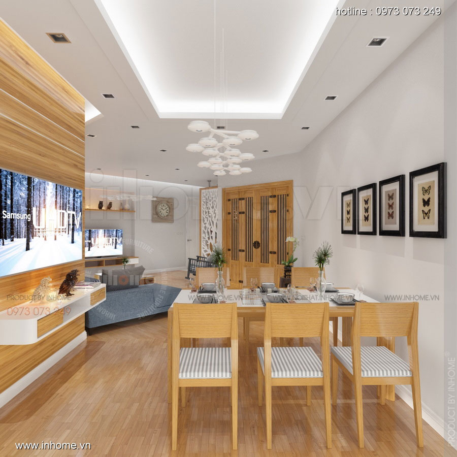 Thiết kế nội thất căn hộ chung cư 100m2 đẹp và phong cách 03