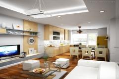 Thiết kế nội thất căn hộ chung cư 50m2 sang trọng và tinh tế