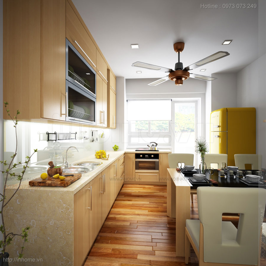 Thiết kế nội thất căn hộ chung cư 50m2 02