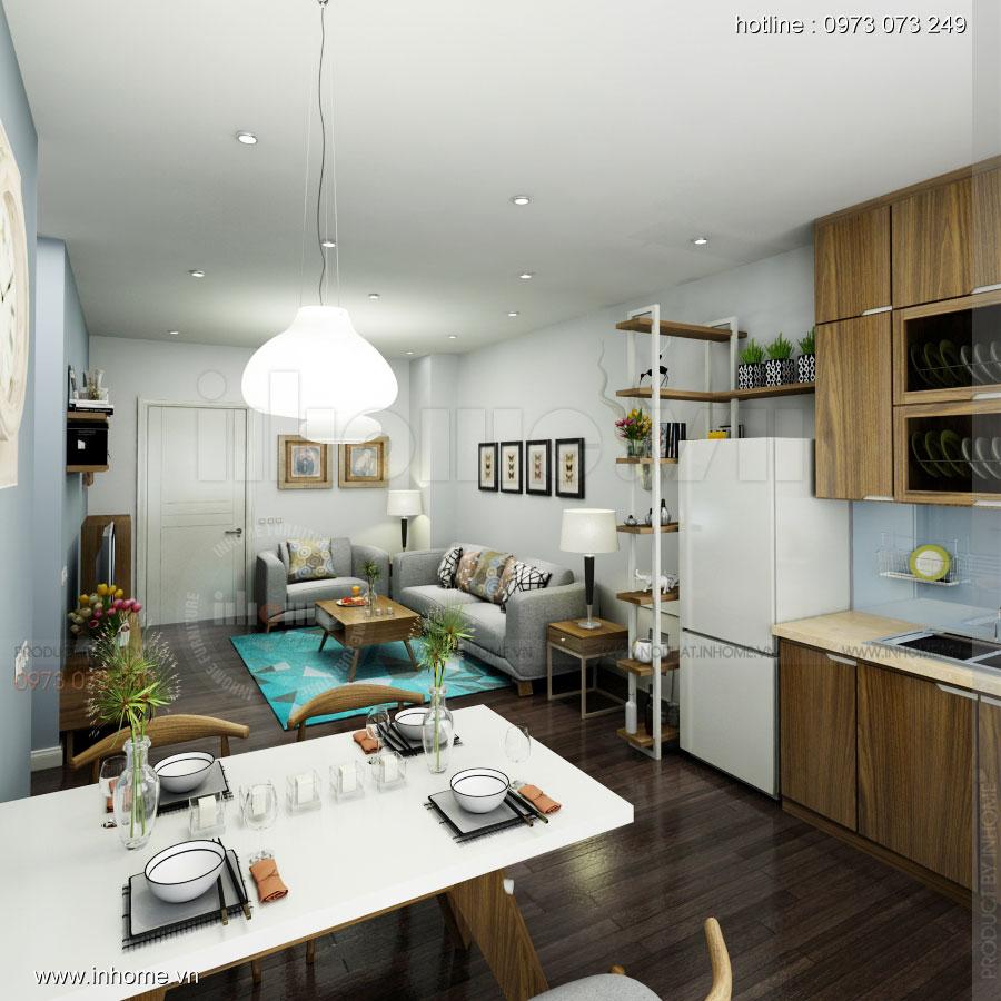 Thiết kế nội thất chung cư 60m2 03
