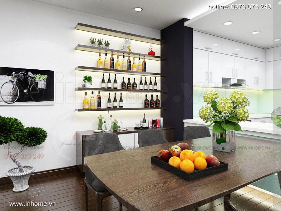 Thiết kế nội thất chung cư căn hộ 70m2 sang trọng tiện nghi 01