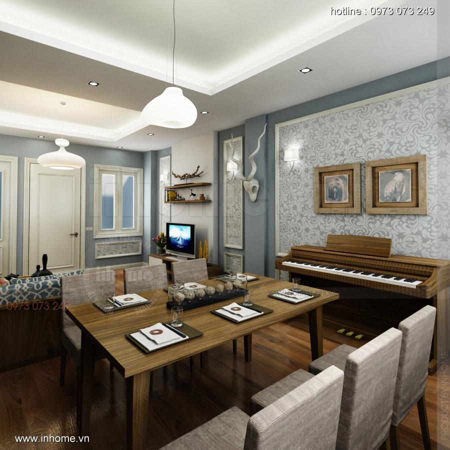 Thiết kế nội thất chung cư ciputra đẹp sang trọng, tinh tế 02