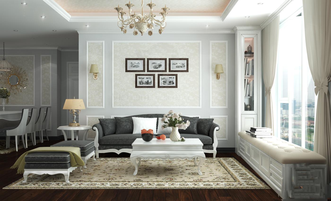 3 phong cách thiết kế nội thất chung cư hòa bình green city 03