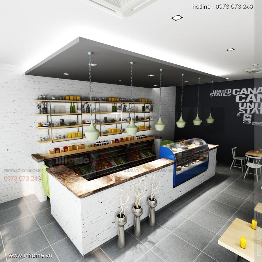 Thiết kế nội thất nhà hàng ăn nhanh đẹp hiện đại 01
