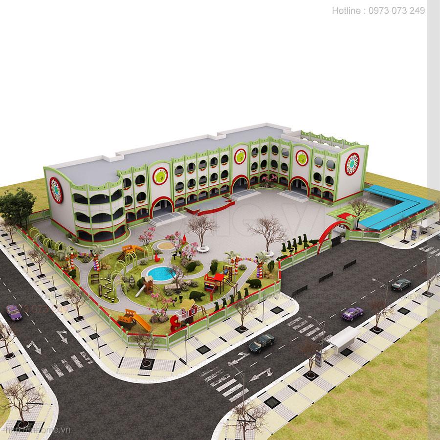 Tư vấn thiết kế trường tiểu học đạt chuẩn quốc gia