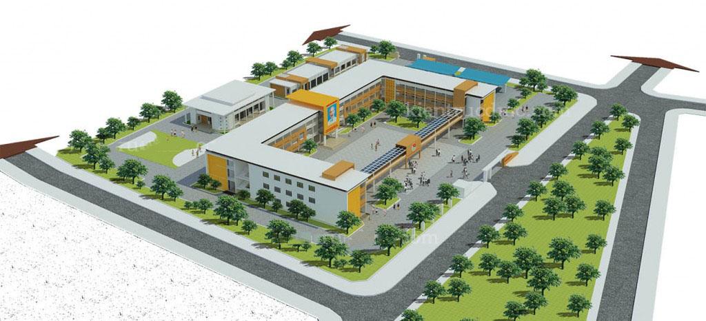 Thiết kế trường trung học cơ sở đúng tiêu chuẩn hiện hành