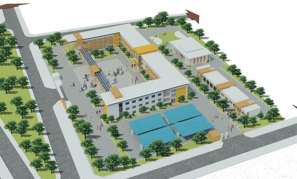 Thiết kế trường trung học cơ sở đúng tiêu chuẩn hiện hành 2