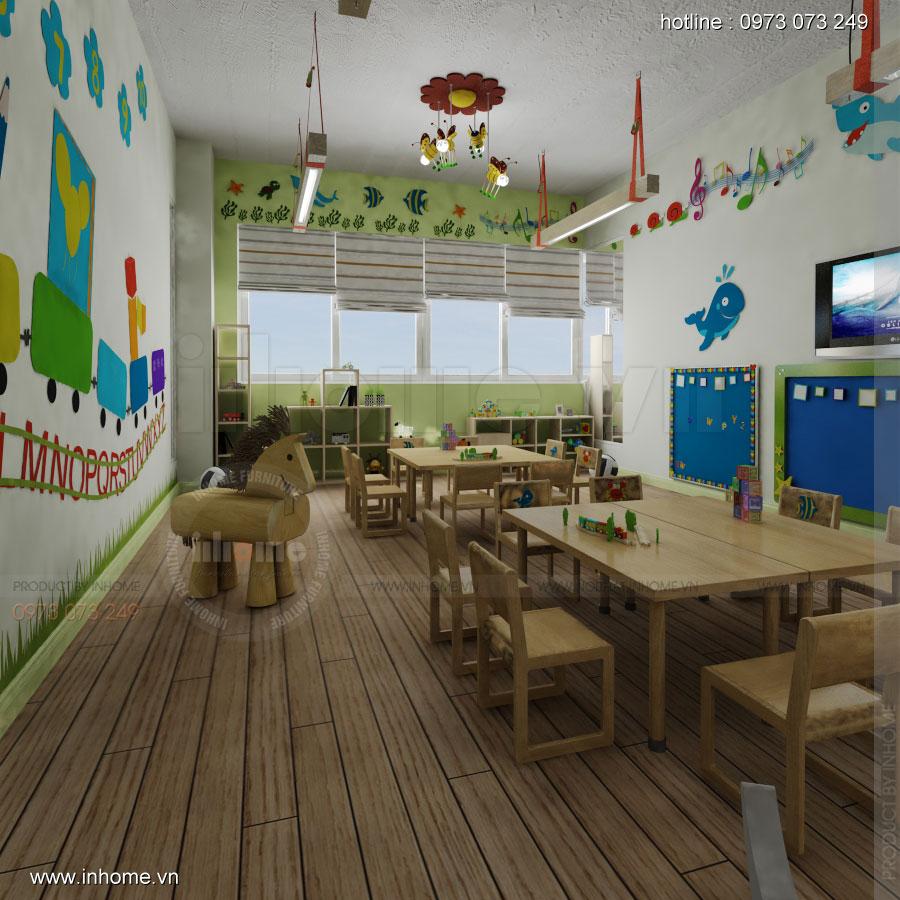 Thiết kế nội thất trường mầm non Đồng Mận Nhỏ 10
