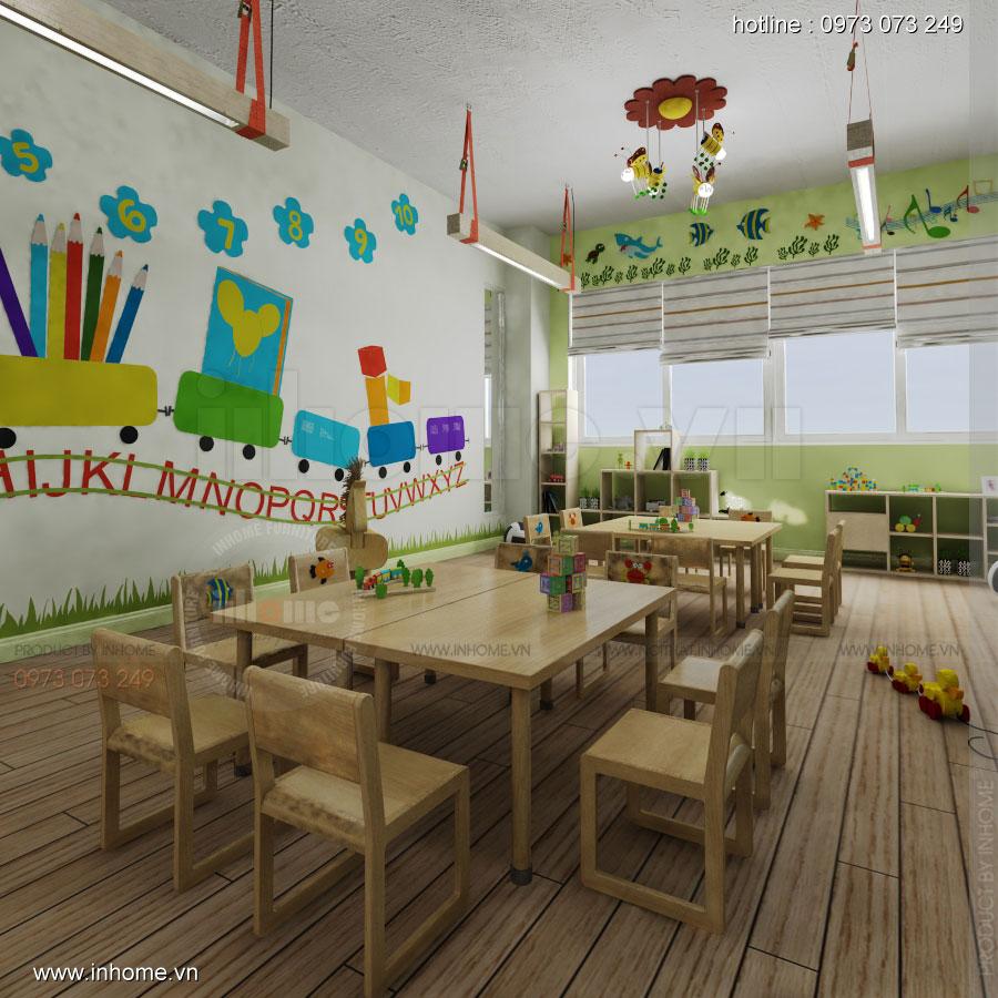 Thiết kế nội thất trường mầm non Đồng Mận Nhỏ 11