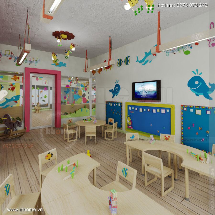 Thiết kế nội thất trường mầm non Đồng Mận Nhỏ 14