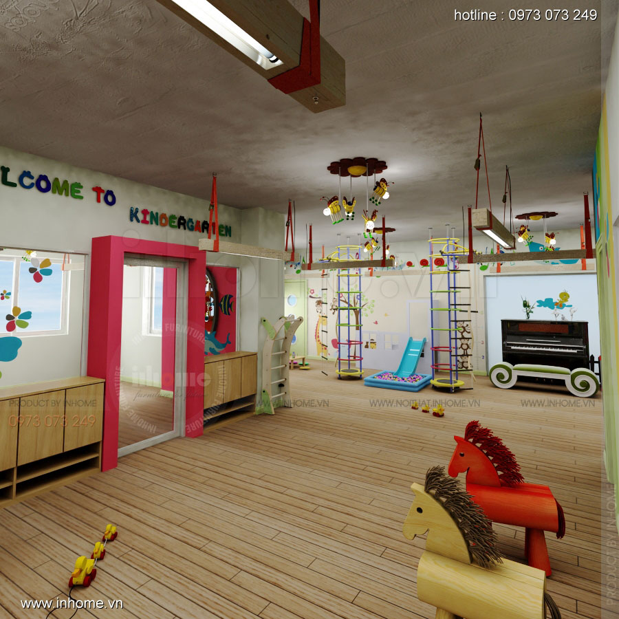 Thiết kế nội thất trường mầm non Đồng Mận Nhỏ 23