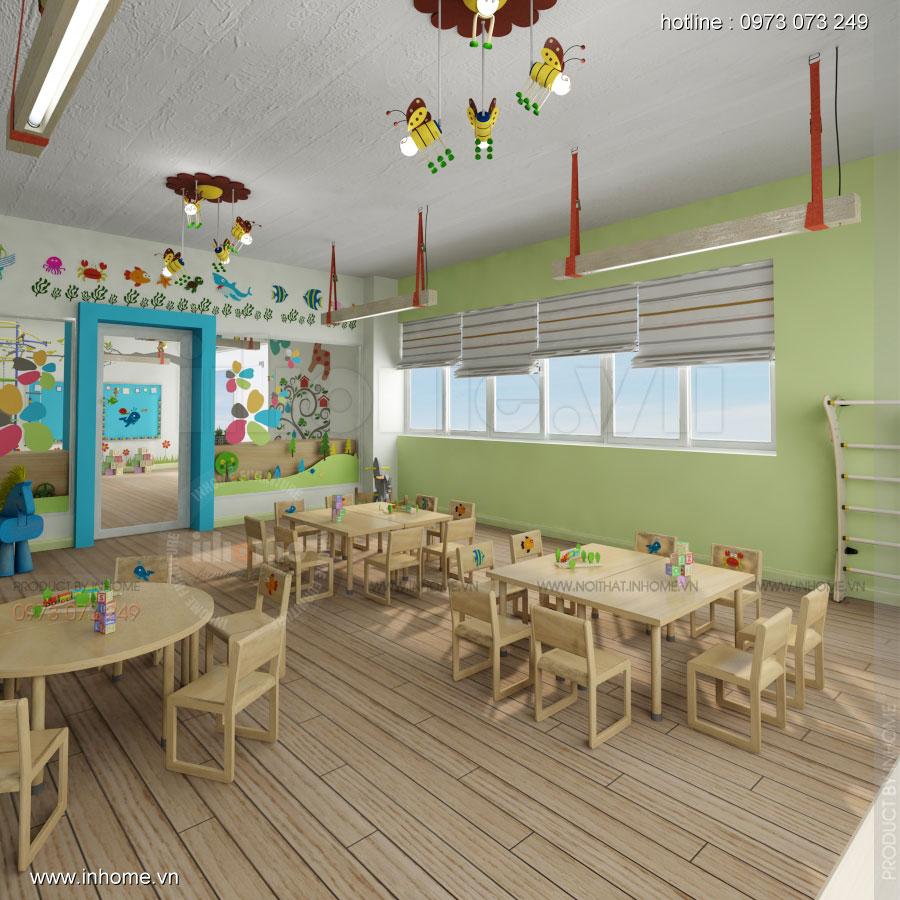 Thiết kế nội thất trường mầm non Đồng Mận Nhỏ 04