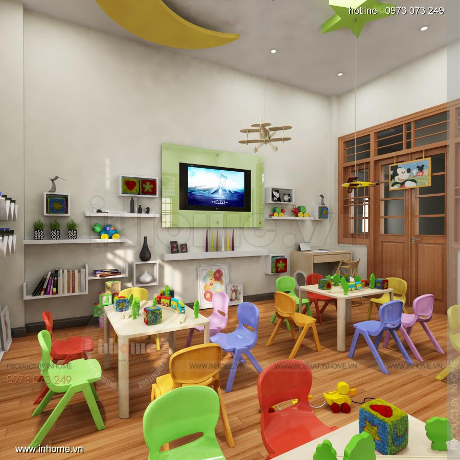 Thiết kế nội thất trường mầm non Ngôi Sao - TP Nam Định