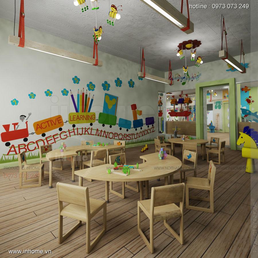 Thiết kế nội thất trường mầm non Đồng Mận Nhỏ 06