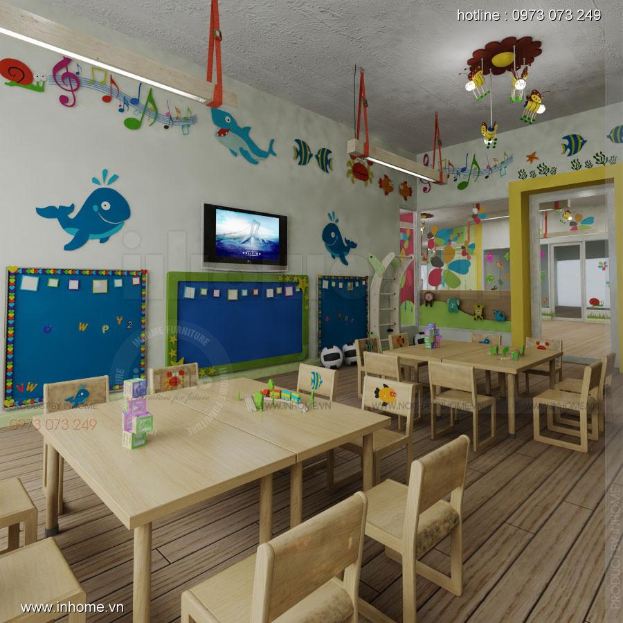 Thiết kế nội thất trường mầm non Đồng Mận Nhỏ 09