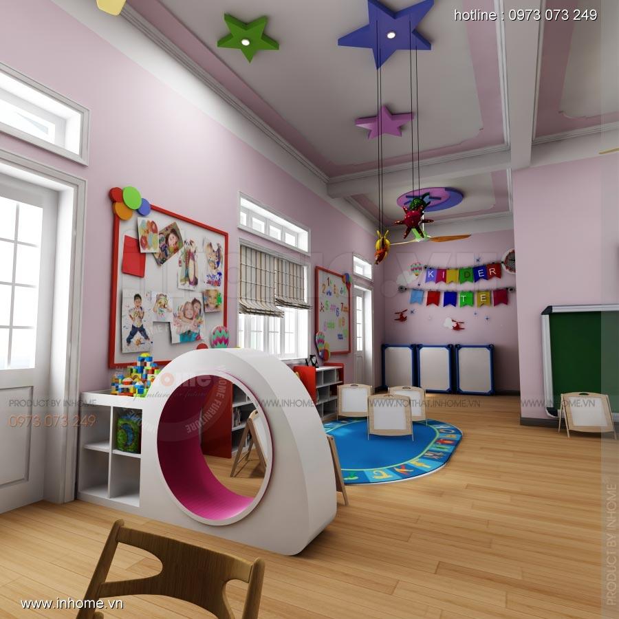 Thiết kế nội thất trường mầm non Hoa Sữa