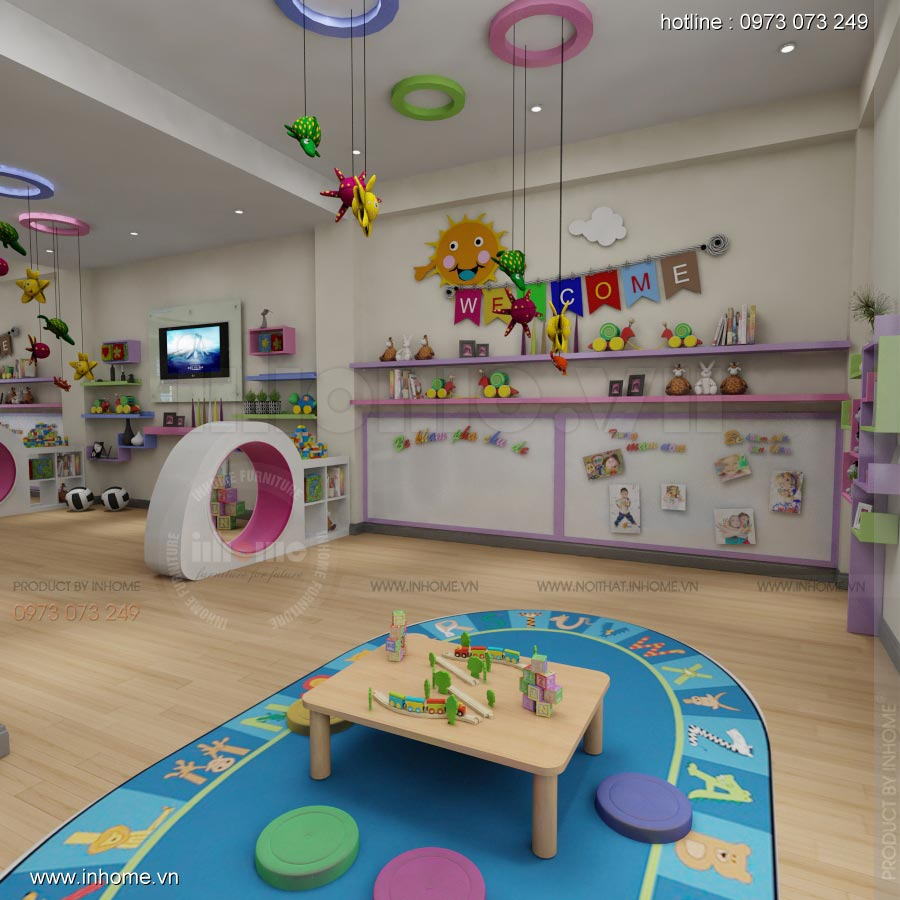 Thiết kế nội thất trường mẫu giáo Vườn Thần Tiên
