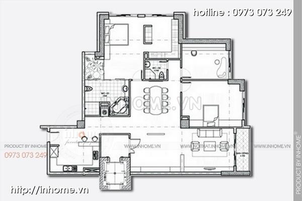 Thiết kế nội thất chung cư Mỹ Đình 01