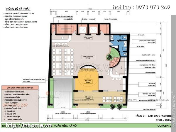 Thiết kế khách sạn Cầu Đông 03