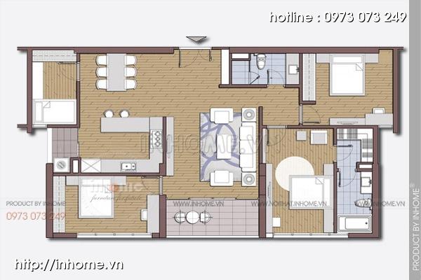 Thiết kế nội thất chung cư Trường Chinh 01