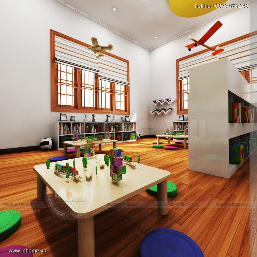 Thiết kế nội thất trường mầm non Ngôi Sao - TP Nam Định 10