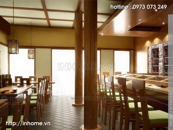 Thiết kế nhà hàng Nhật 03