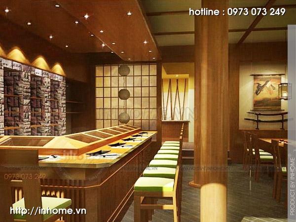 Thiết kế nhà hàng Nhật 05