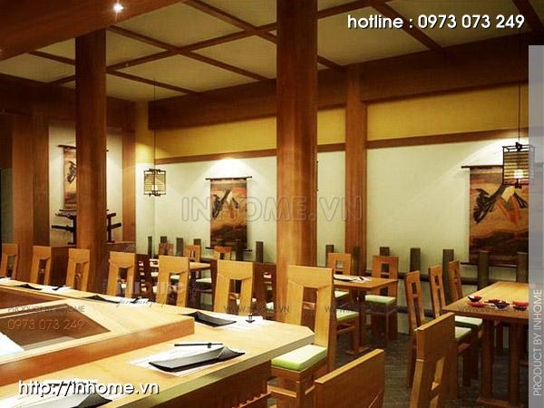 Thiết kế nhà hàng Nhật 06