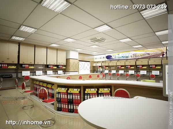 Thiết kế nội thất văn phòng LADECO