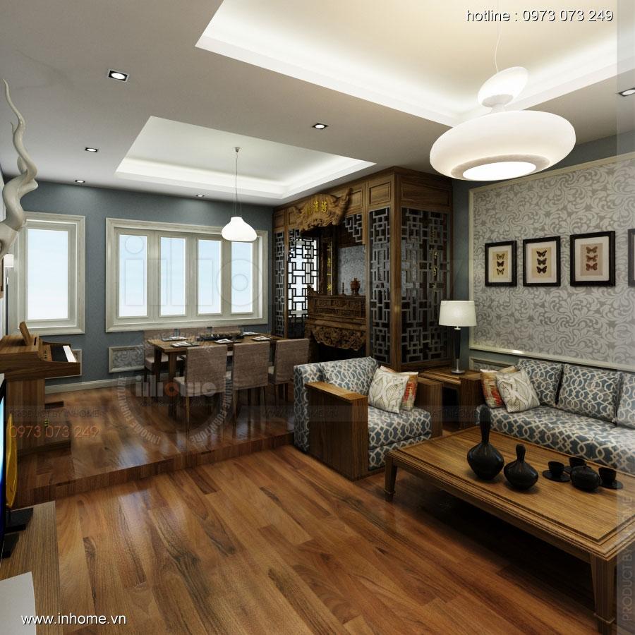 Thiết kế nội thất đẹp nhà lô phố Khâm Thiên 01