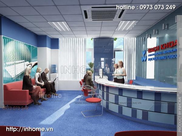Thiết kế nội thất văn phòng CISCO 01