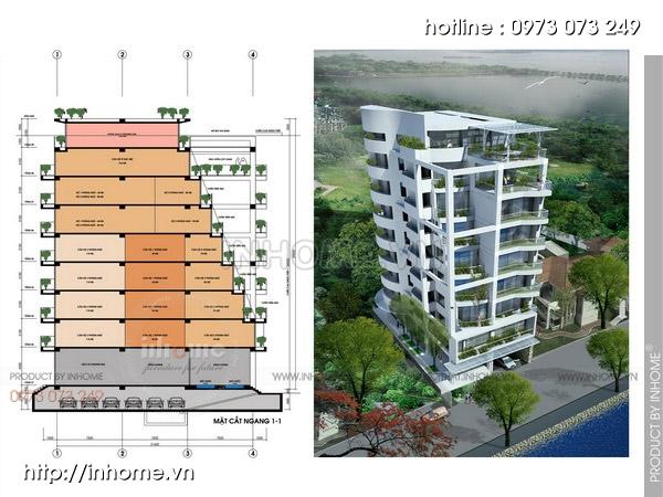 Thiết kế chung cư sinh thái 12