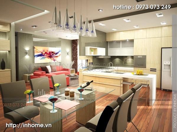 Thiết kế nội thất chung cư Trường Chinh 03