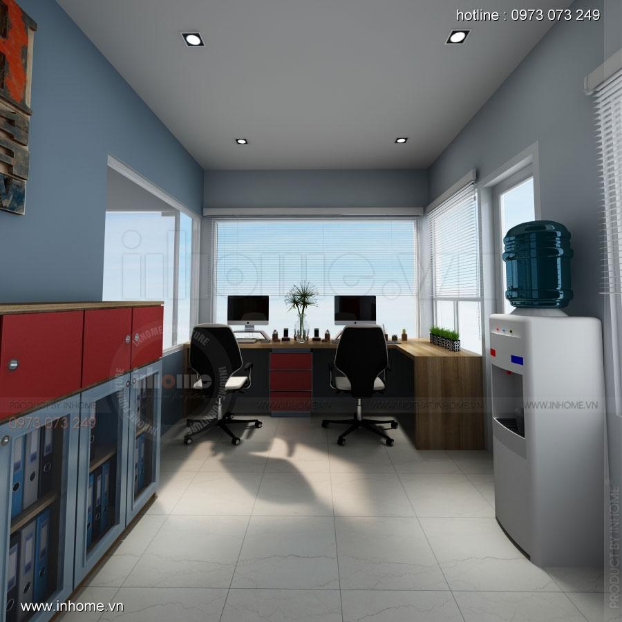 Thiết kế nội thất phòng lễ tân Công ty nước khoáng Lavie 07