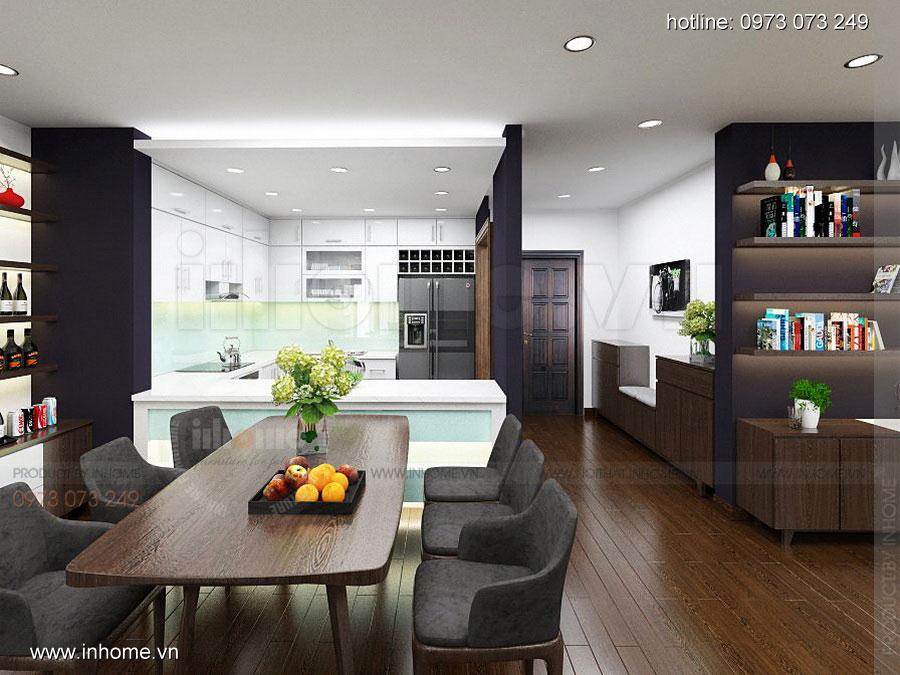 Thiết kế nội thất chung cư Định Công 02