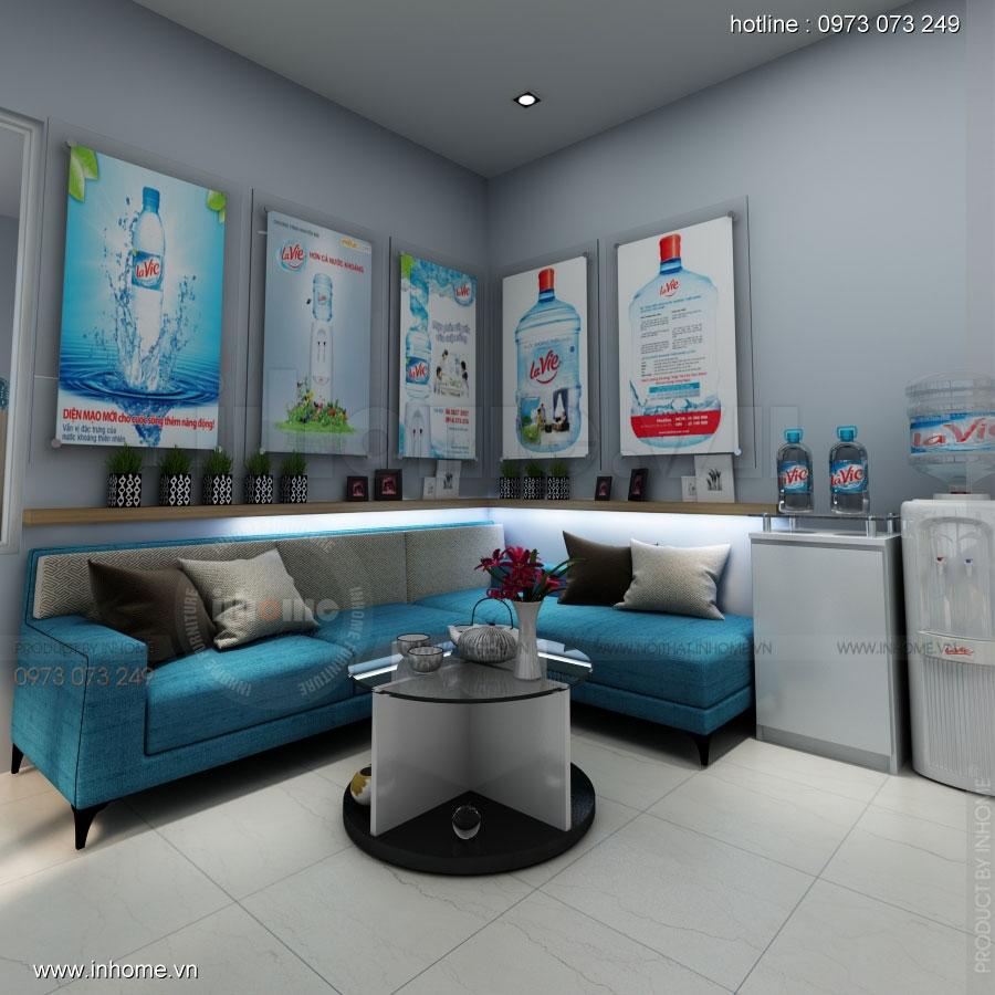 Thiết kế nội thất phòng lễ tân Công ty nước khoáng Lavie 03