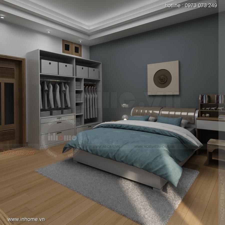 Thiết kế nội thất phòng ngủ nhà lô phố 03
