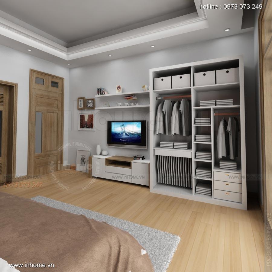 Thiết kế nội thất phòng ngủ nhà lô phố 07