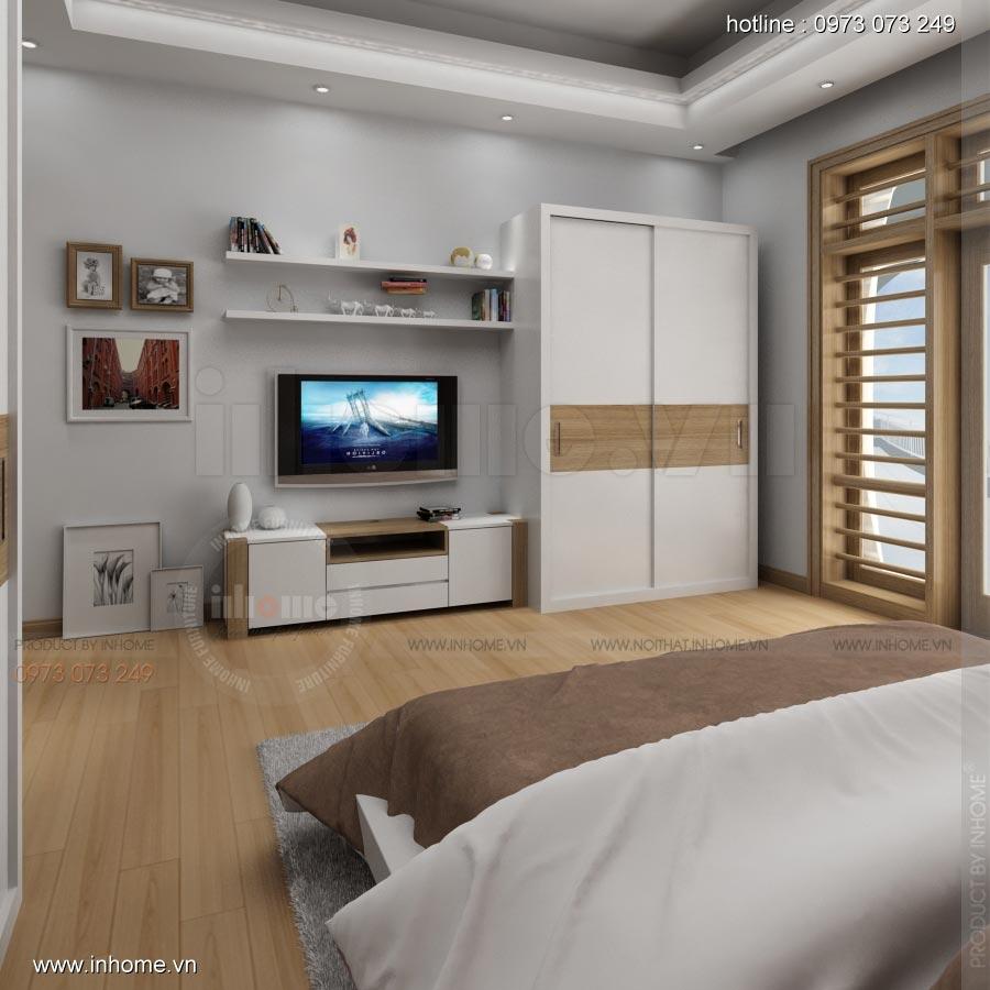 Thiết kế nội thất phòng ngủ nhà lô phố 08