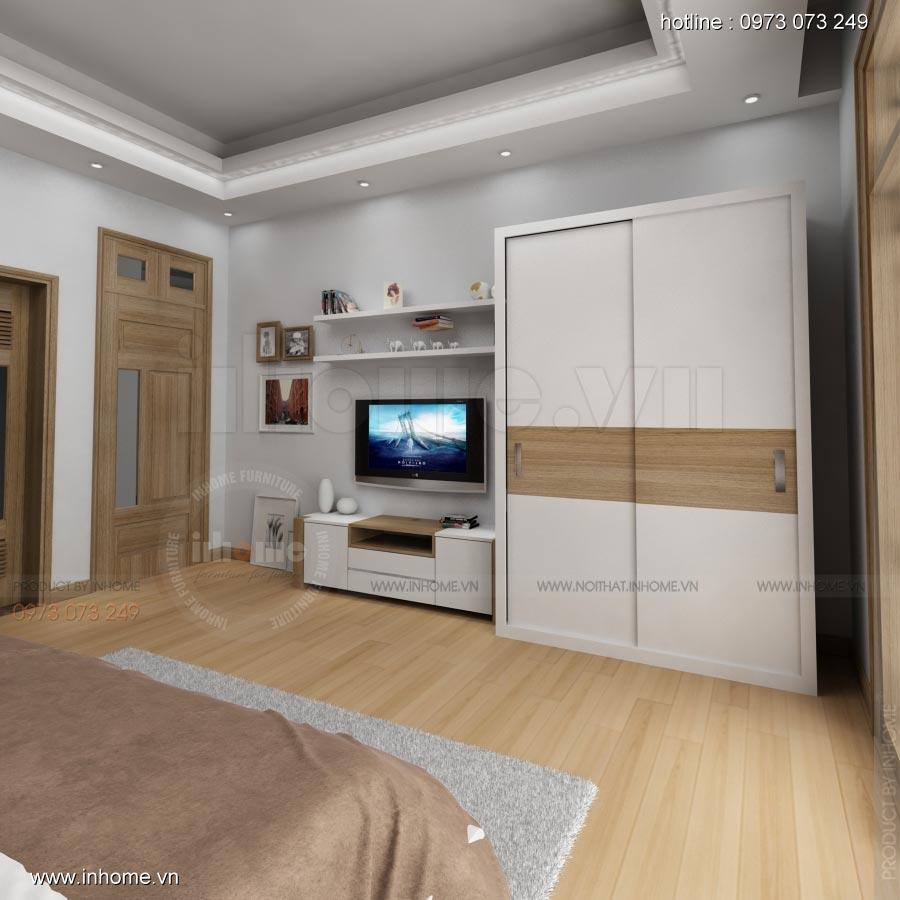 Thiết kế nội thất phòng ngủ nhà lô phố 10