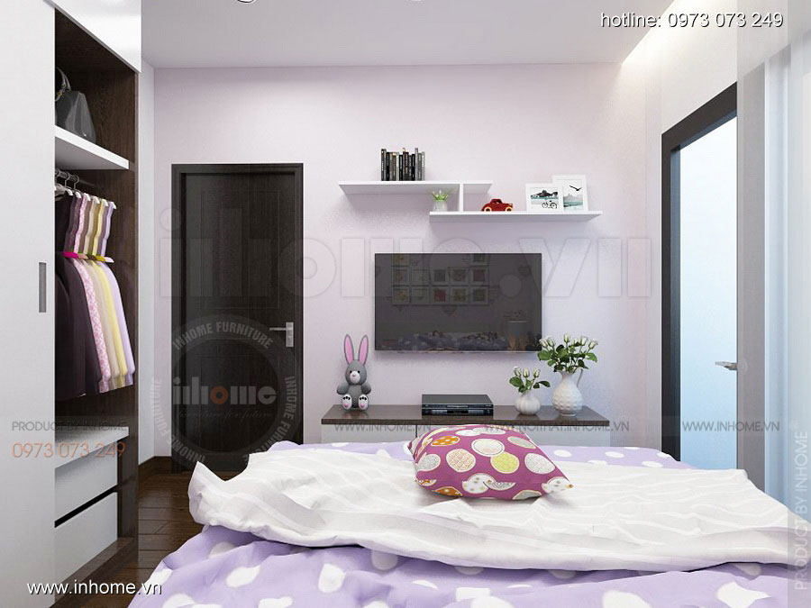 Thiết kế nội thất chung cư Định Công 07