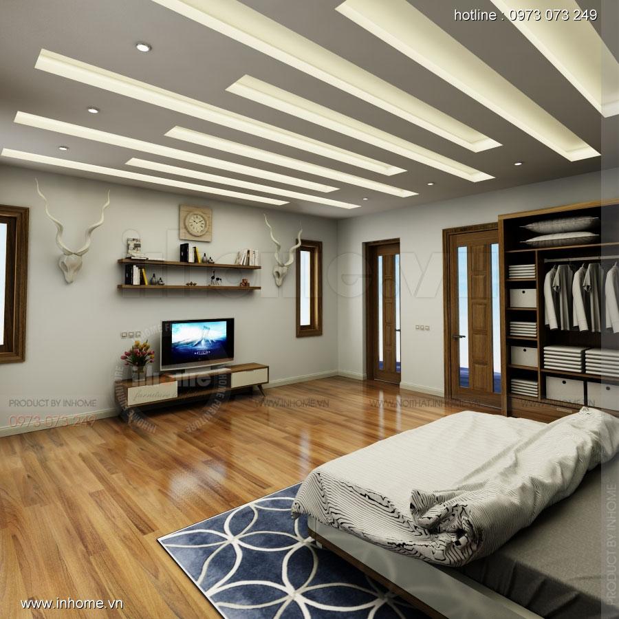 Thiết kế nội thất phòng ngủ nhà lô phố 01
