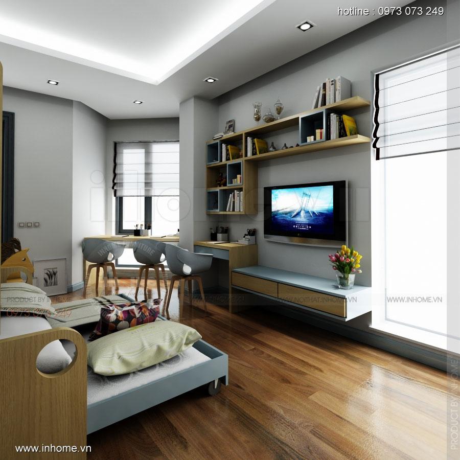Thiết kế nội thất phòng ngủ trẻ em đẹp 04